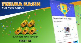 Garena Free Fire Indonesia Menangkan Penghargaan Sebagai Google Play User's Game Choice 2018