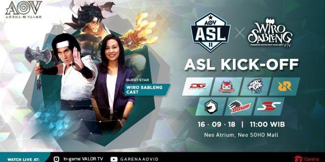 Saksikan Pertarungan Perdana AOV Star League Season 2 Pada Hari Minggu Di Neo SOHO Podomoro